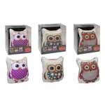 Cute owl pin cushion to adorn any room or for the perfect gift. Densely knitted high quality cotton cover. Weighted base to ensure stability, quick and easy to use. Each packaged individually!