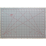Convenient size for home, travel or taking to classes. Self healing cutting mat side is marked in imperial measurements with 30, 45 and 60 degree angles. Ironing Board side is ideal for pressing, sewing, quilting and crafting projects. Mat: 12″ x 17 1/2″ (31 x 45 cm). Grid: 11″ x 17″ (28 x 43 cm)