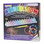 Kit includes; the Wonder Loom<sup>TM</sup>, pick tool, 24 ″C″ clips, 600 latex free rubber bands and easy to follow instructions.