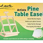 A Table Easel is an essential materials for a good piece of art an undeniably important part of any artist's gear. This compact Pine Table Easel -width 30.5cm (12 <sup>1</sup>⁄<sub>64</sub>″), overall depth - 41cm (16 <sup>9</sup>⁄<sub>64</sub>″), height - up to 60cm (2 <sup>35</sup>⁄<sub>8</sub>″) is a great entry level easel. You can use 7 different angles and folds completely flat for transportation or storage.